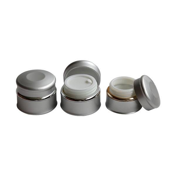 Luxury aluminum cosmetic jar