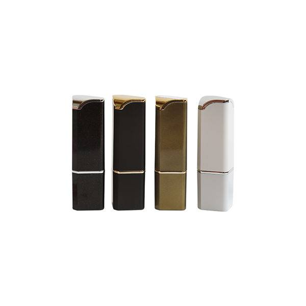 Square empty customized metal colors lip stick tube