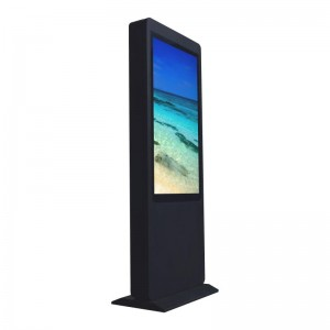55 inch touch screen mirror photo booth outdoor advertising screen digital signage