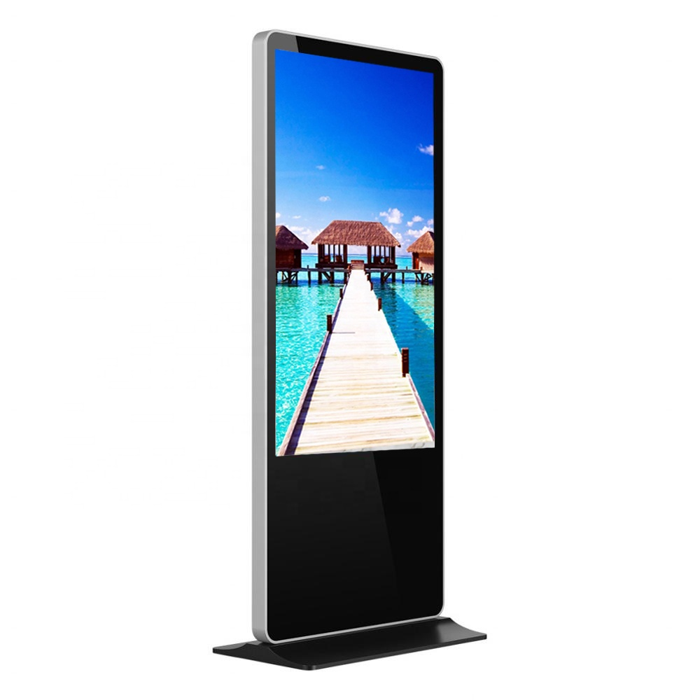 55 inch banking koisk free standing LCD advertisement intelligent display digital signage, support 4G/wifi/LAN