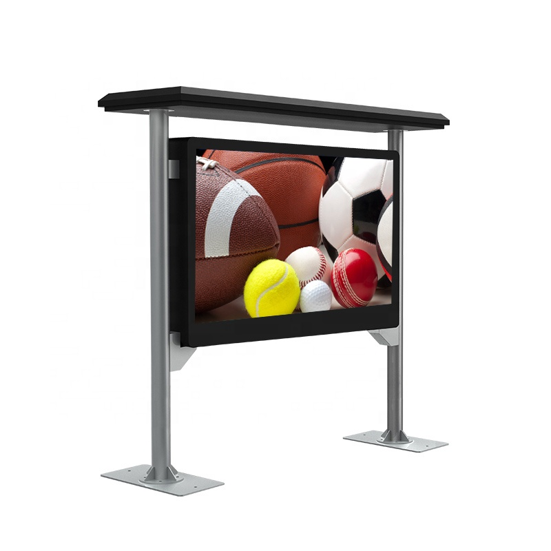 Outdoor ip65 LCD digital signage TV screen kiosk digital signage display poster floor stand kiosk totem