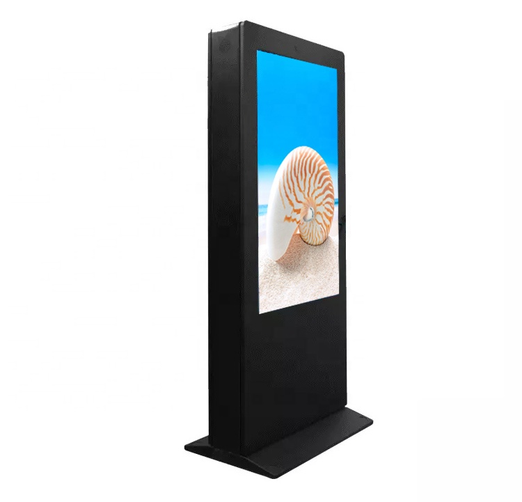 Outdoor advertising TV screen digital signage display screens floor stand kiosk totem