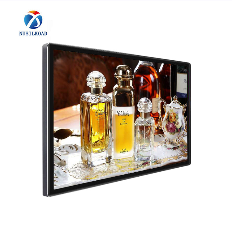 18.5 inch elevator wall mount media LCD Advertising machine display screen, support content releasing via Wifi/LAN
