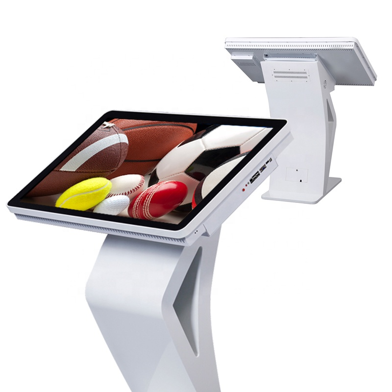 65 inch 4K interactive touch all-in-one survey kiosk digital signage totem, windows for option