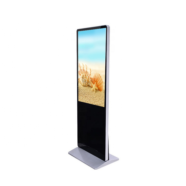 Super slim selfie mirror touch smart table digital signage monitor and displays floor stand kiosk totem