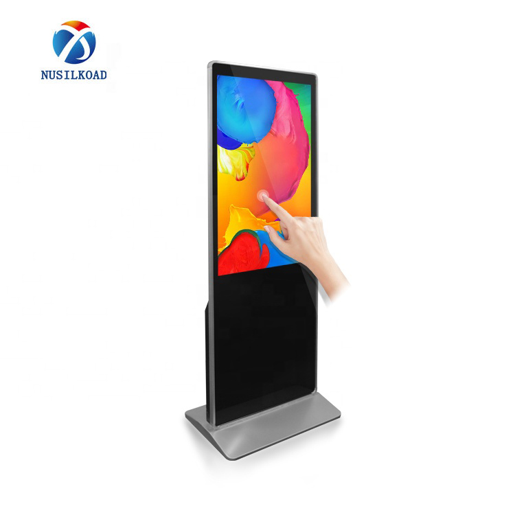 High Quality Digital Totem Display - floor stand touch screen kiosk digital signage display wifi totem – Nusilkoad
