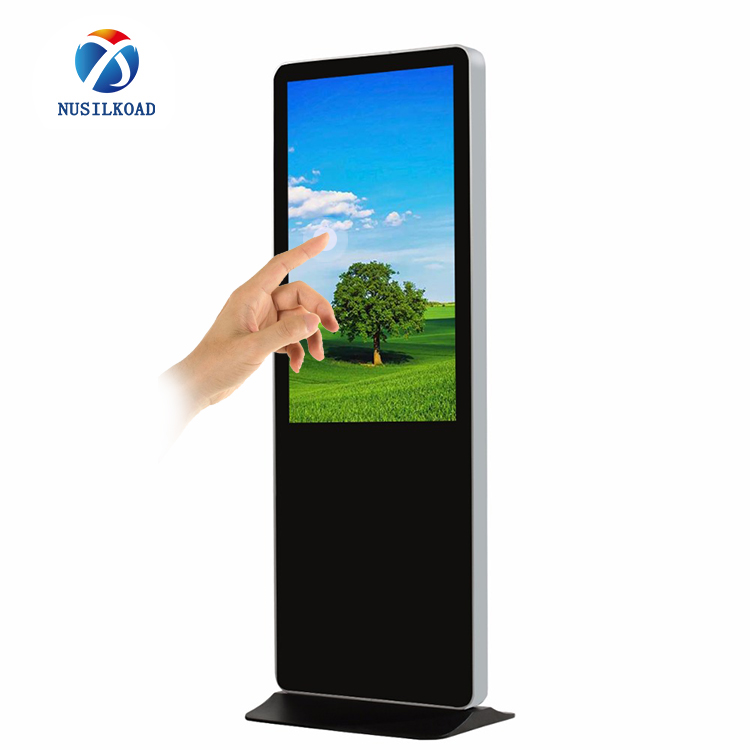 2020 wholesale price Digital Display Totem - 65 inch touch screen kiosk totem lcd display digital signage with LAN/wifi network Android/windows OS – Nusilkoad
