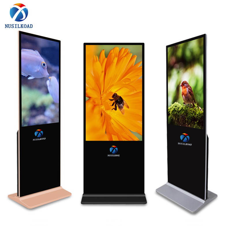 High Quality Digital Totem Display - 55 inch UHD touch screen kiosk  floorstanding adverting TV display  digital signage totem with difgital signage software – Nusilkoad