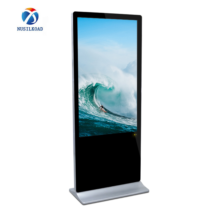 2020 Good Quality Interactive Totem – 65 inch freestanding ad display kiosk digital signage with LAN/wifi network Android/windows OS – Nusilkoad