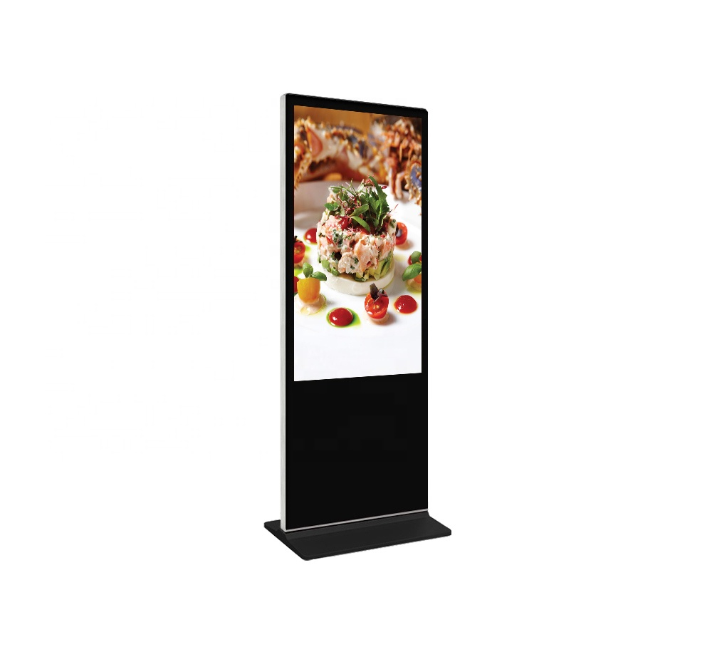49 inch floor standee vertical digital signage led advertising tv, for indoor totem