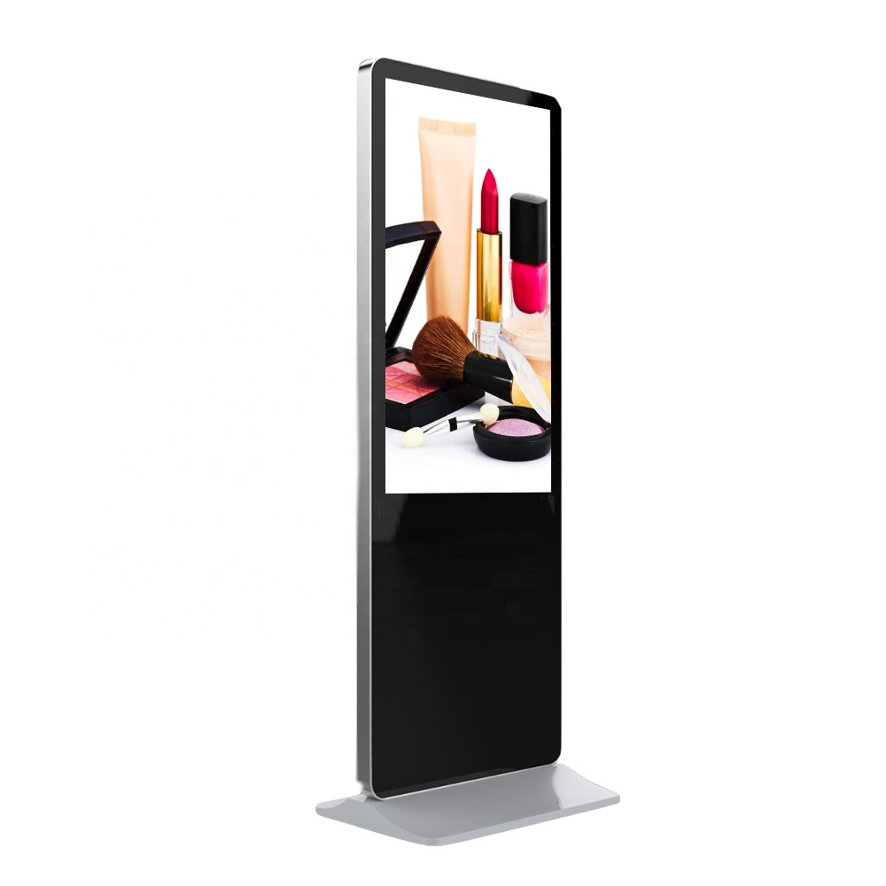 Slim LG touch screen Ipad photo booth mirror digital signage monitor and displays floor stand kiosk totem