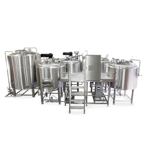 Chinese Professional 1000l Beer Brewing Equipment - 2000L four vessel brewhouse: mash, lauter tank, kettle, Whirlpool – Obeer