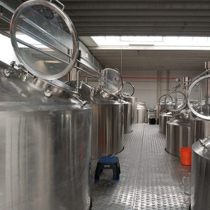 Factory Price Fermenter Wide Mouth - 4000L four vessel brewhouse: mash, lauter tank, kettle, Whirlpool – Obeer