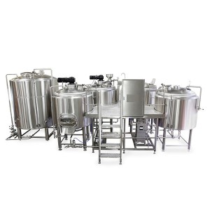 Chinese wholesale Micro Brewery Equipment - 3000L four vessel brewhouse: mash, lauter tank, kettle, Whirlpool – Obeer