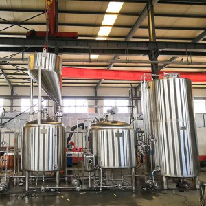 China wholesale Beer Brewery Equipment - 1000L Three vessel brewhouse, mash, lauter tank, kettle&whirlpool – Obeer