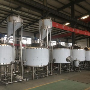 8000L four vessel brewhouse: mash, lauter tank, kettle, Whirlpool, Cooking tank(optional)