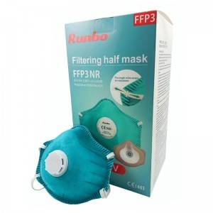 China Manufacturer for Mask Template - EN149 FFP3 face mask with breathing valve Professional manufacturer respirator face ffp3 mask – AKF Medical