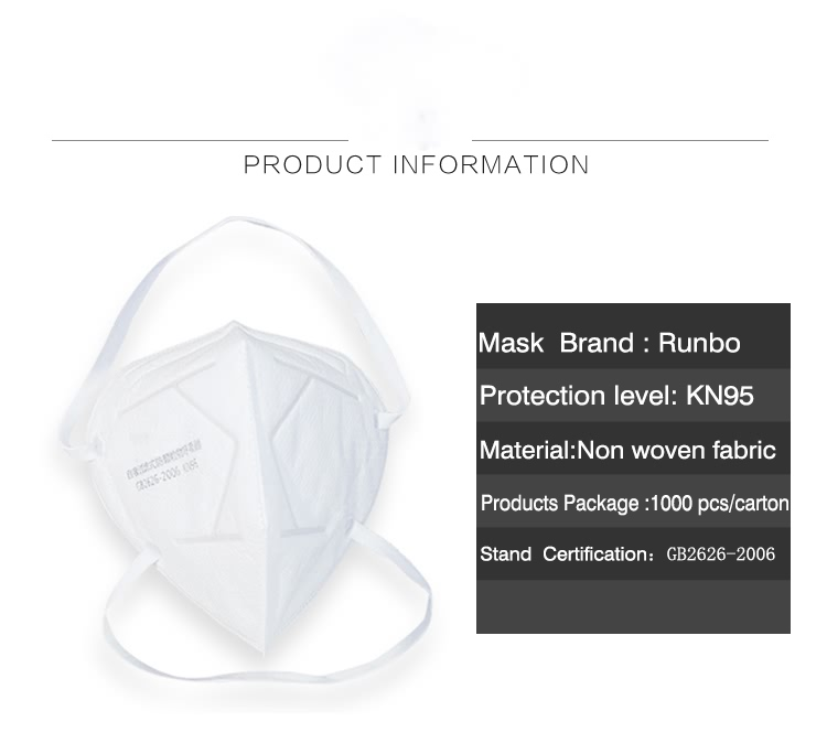 High-quality kn95 face mask Head-mounted KN95 respirator breathing mask (2)