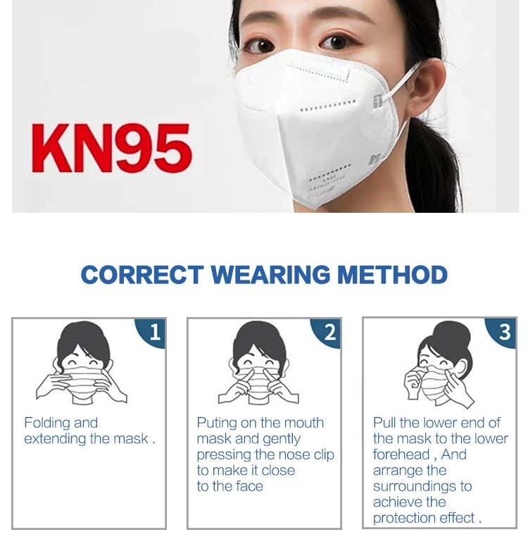 Personal Protective KN95 Mask GB2626 Foldable Air Breather Disposable kn95 Face Mask with Air Value (6)