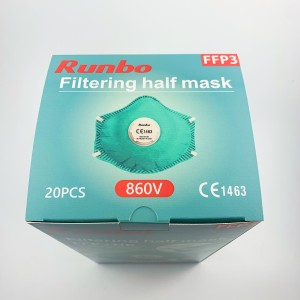 EN149 FFP3 face mask with breathing valve Professional manufacturer respirator face ffp3 mask