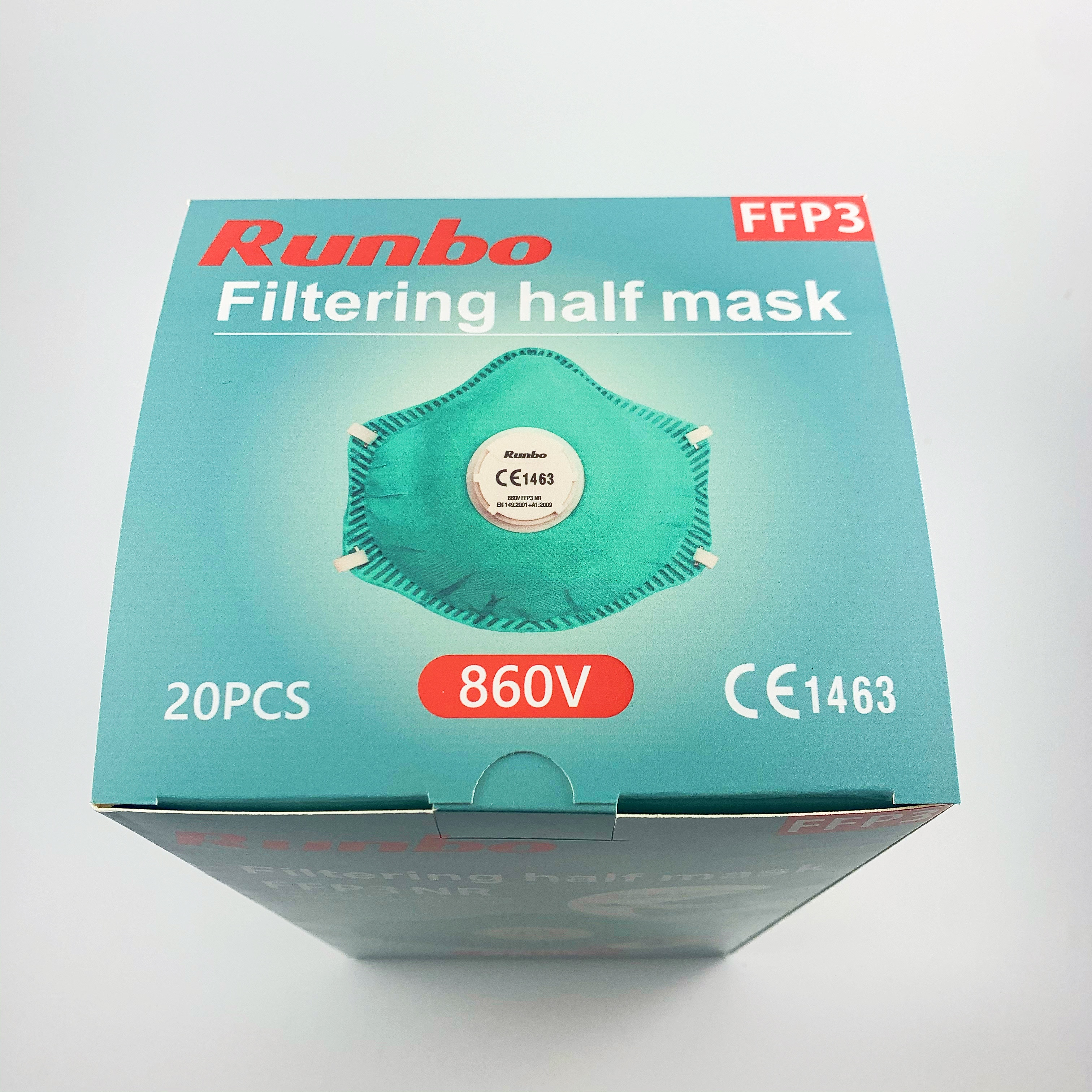 Wholesale Mask Machine - EN149 FFP3 face mask with breathing valve Professional manufacturer respirator face ffp3 mask – AKF Medical detail pictures