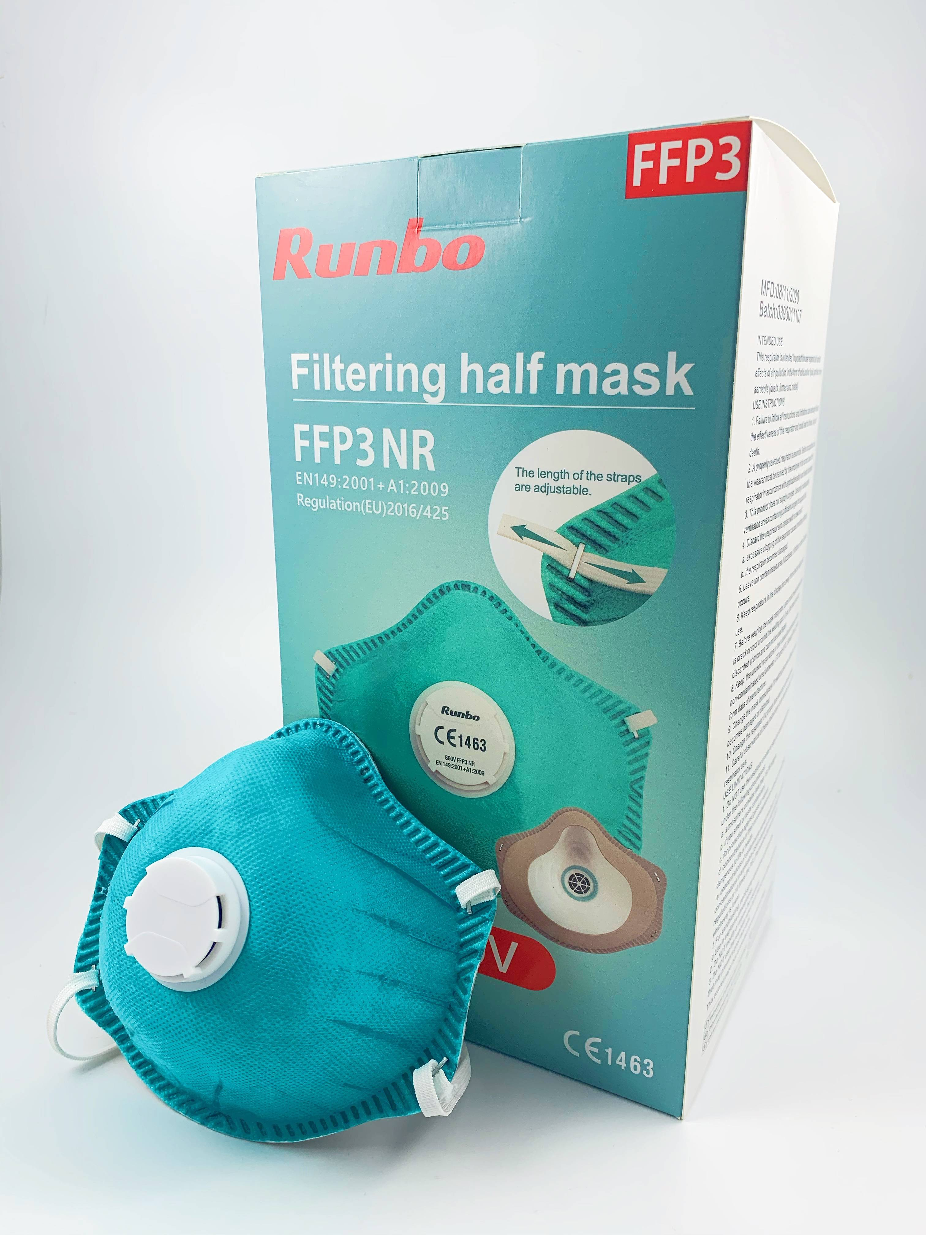 Professional Design 3 Ply Headloop Mask - Professional manufacturer respirator face ffp3 mask with valve – AKF Medical Featured Image