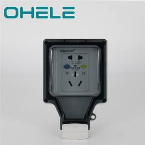 16A 5 hole socket with leakage protection