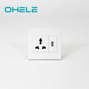 Discountable price Wall Plug Socket - 1 Gang Multi-function Socket+1 Gang USB – Ohom