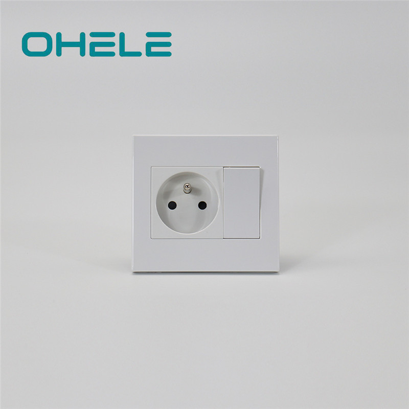 Good Wholesale Vendors Multi Plug Wall Outlet - 1 Gang French Socket+1 Gang Switch – Ohom