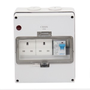 Chinese Professional Weatherproof Switch Socket - 1 Gang RCD + 2 Gang UK Socket – Ohom