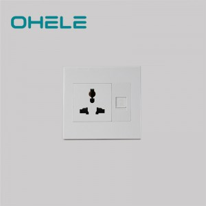 Renewable Design for Standard Wall Outlet - 1 Gang Multi-function Socket+1 Gang Computer Port – Ohom