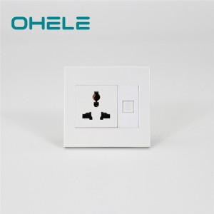 Manufacturing Companies for Kitchen Wall Sockets - 1 Gang Multi-function Socket+1 Gang Telephone Port – Ohom