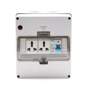 1 Gang RCD + 2 Gang Multi-function Socket