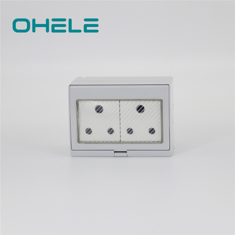 Free sample for Waterproof Socket For Bathroom - 2 Gang South Africa Socket – Ohom