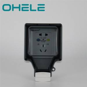 10A 5 hole socket with leakage protection
