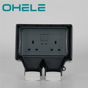 86 type waterproof box with 2 integrated switch & 13A UK socket