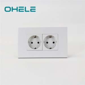 Big discounting Wall Plug Types - 2 Gang German(EU) Socket – Ohom