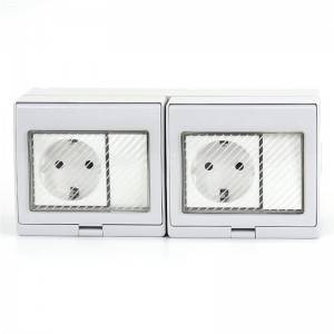 2 Gang Switch + 2 Gang German(EU) Socket