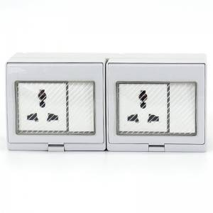 2 Gang Switch + 2 Gang Multi-function Socket