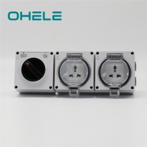 2 Inch Pipe Nipple Finger Plate For Light Switch - 1 Gang Switch +2 Gang Multi-function Socket – Ohom