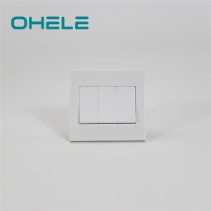 Popular Design for Wall Mounted Plug Socket - 3 Gang switch – Ohom