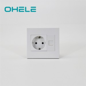 Factory directly supply Wall Socket Remote Control - 1 Gang German(EU) Socket+1 Gang Computer Port – Ohom