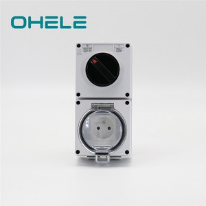 Manufacturer of Eu Waterproof Socket - 1 Gang Switch + 1 Gang French Socket – Ohom
