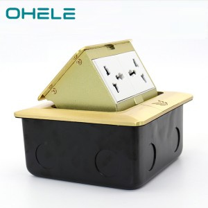 Pop up power outlet Ground 2 Gang Multi-function Box Socket