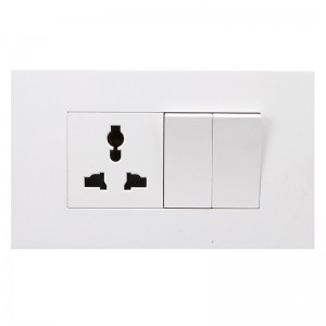 1 Gang Multi-function Socket+2 Gang Switch