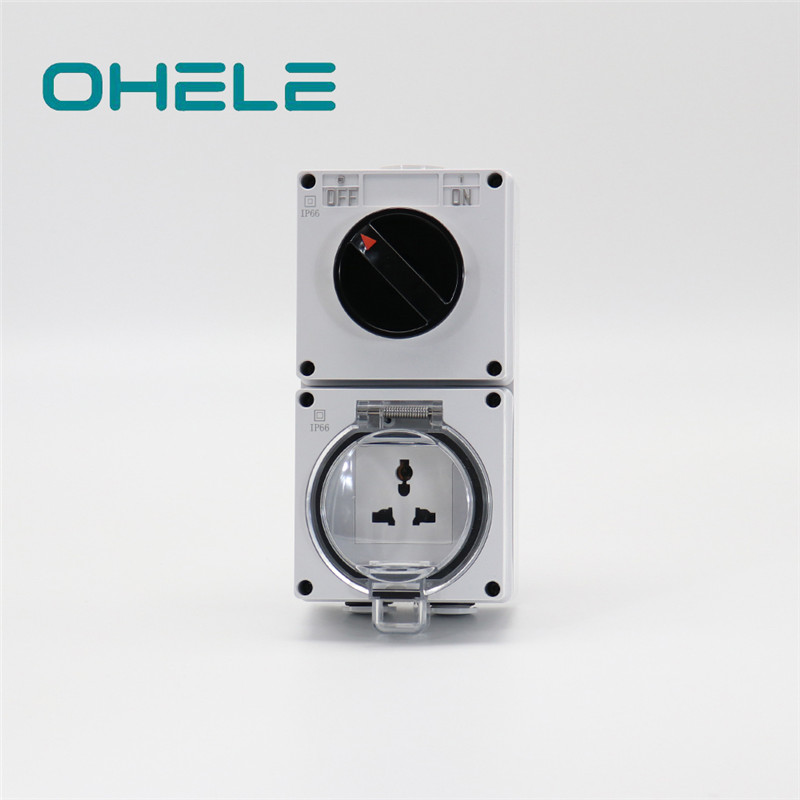 Hydraulic Pipe Nipple Coloured Plug Sockets - 1 Gang Switch + 1 Gang Multi-function Socket – Ohom
