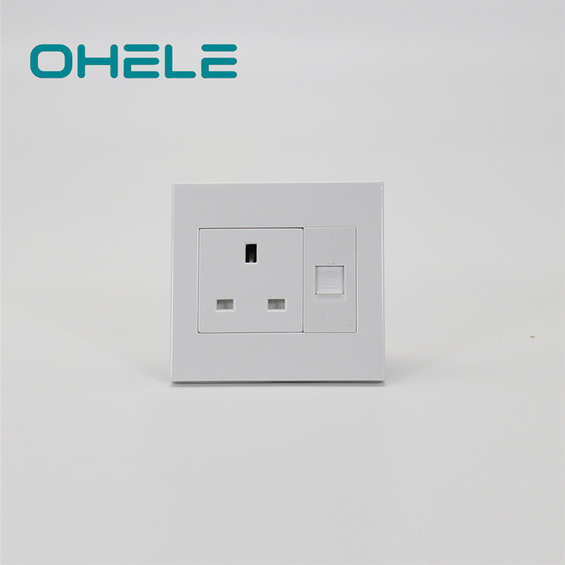 Hot-selling Double Wall Plug Socket - 1 Gang UK Socket+1 Gang Telephone Port – Ohom