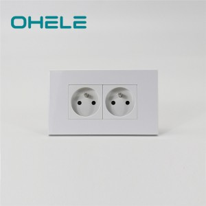 Discount Price Wall Outlet With Usb Ports - 2 Gang French Socket – Ohom