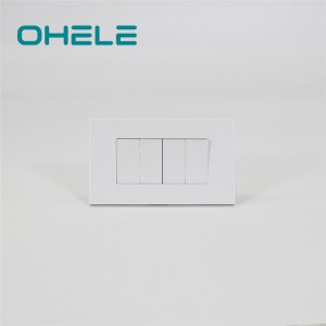 High Quality Uk Wall Socket And Switches With Usb - 4 Gang switch – Ohom