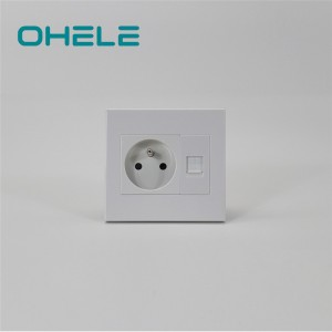 Factory selling Wall Socket Amps - 1 Gang French Socket+1 Gang Telephone Port – Ohom